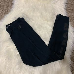 Nike black just do it cotton leggings size medium